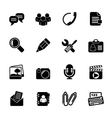 Silhouette Chat Application and communication Icon vector image vector image