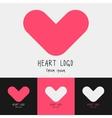 Set of 4 heart logo vector image