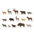 Animals icon set symbols such as lynx vector image