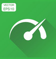 dashboard icon business concept level meter speed vector image
