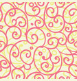 freehand floral motifs seamless pattern vector image