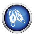 Icon of swimming flippers vector image