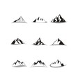 Mountain icon collection set vector image