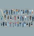 set of isometric people vector image