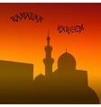 sunset mosque landscape with beautiful mosques vector image