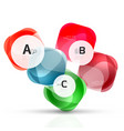 shiny blank web option boxes vector image