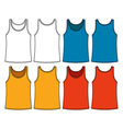 Singlets template vector image