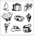 Summer holidays objects collection vector image vector image