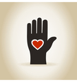 Heart in a hand4 vector image vector image