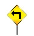 Turn left traffic sign vector image