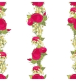 Seamless pattern with red peonies vector image