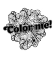 Black doodle style ornament for coloring book vector image