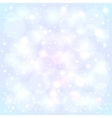 Blue snowy lights blurred background vector image