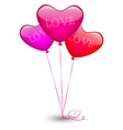 Bunch of balloons in the shape of a heart vector image