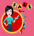 fashion girl in flat style shopping and fashion b vector image