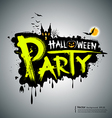 Halloween party message design vector image