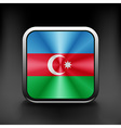 Square icon with flag of azerbaijan with vector image