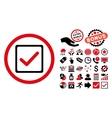 Checkbox Flat Icon with Bonus vector image