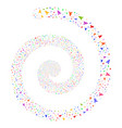 yuan fireworks spiral vector image