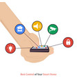best control of your smart home vector image