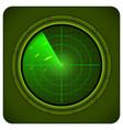 military radar vector image