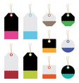 bright tags vector image vector image
