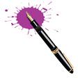ink pen vector image