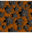 Black Leaves 3d Seamless Pattern Background vector image