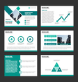 Green presentation templates Infographic template vector image