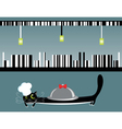 Cook cat vector image