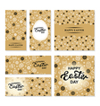 easter flaers set gold vector image
