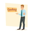 Public speaking skills coaching vector image