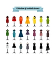 Summer or cocktail party dresses vector image