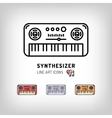 Synthesizer isolated line art icon Modern vector image