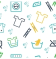 Various Laundry Themed Icons vector image