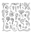 Set of floral ornaments for your design vector image