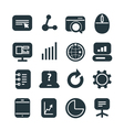 Different SEO icons set vector image vector image