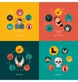 Rock composition flat vector image