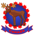 moose and canada vector image