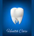 3d white tooth for dentistry health care vector image