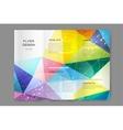 Abstract brochure or flyer design templatee vector image