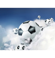 Football in the clouds vector image