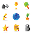 Icons for sport and awards vector image