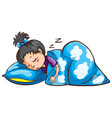 A young girl sleeping vector image