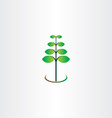 eco spring plant leaf green vector image