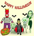 halloween party v vector image