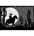 Horseman rides in the desert vector image