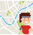 marathon competition design vector image