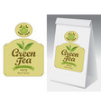 paper packaging with label for black tea vector image