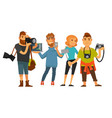 people professions photographer cameraman or vector image
